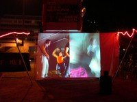 projection at Free Media Camp