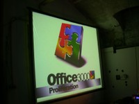 Screen at Office 3000, 2002